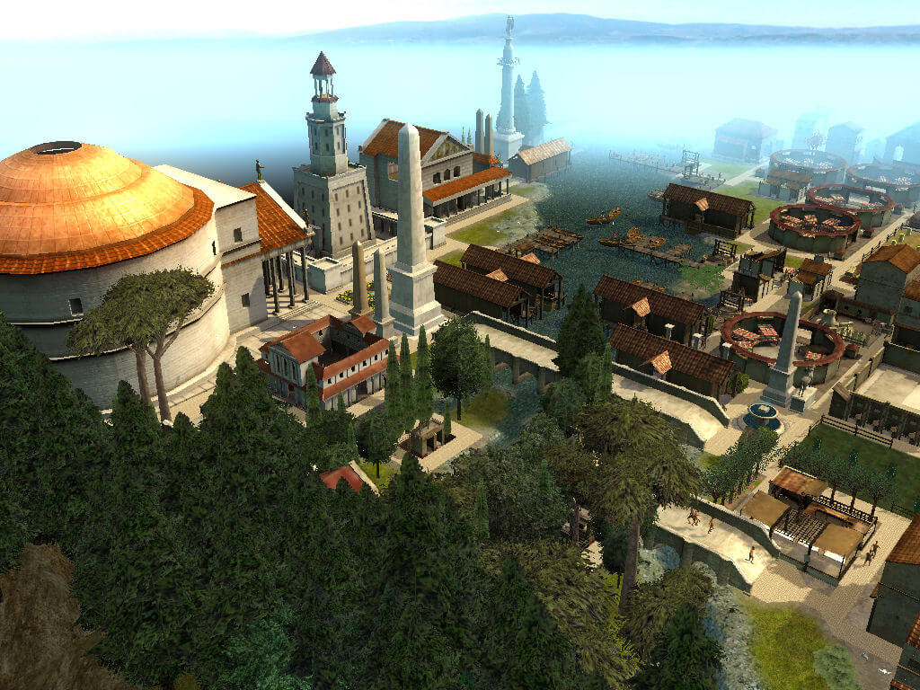 Town Center From Mountainside