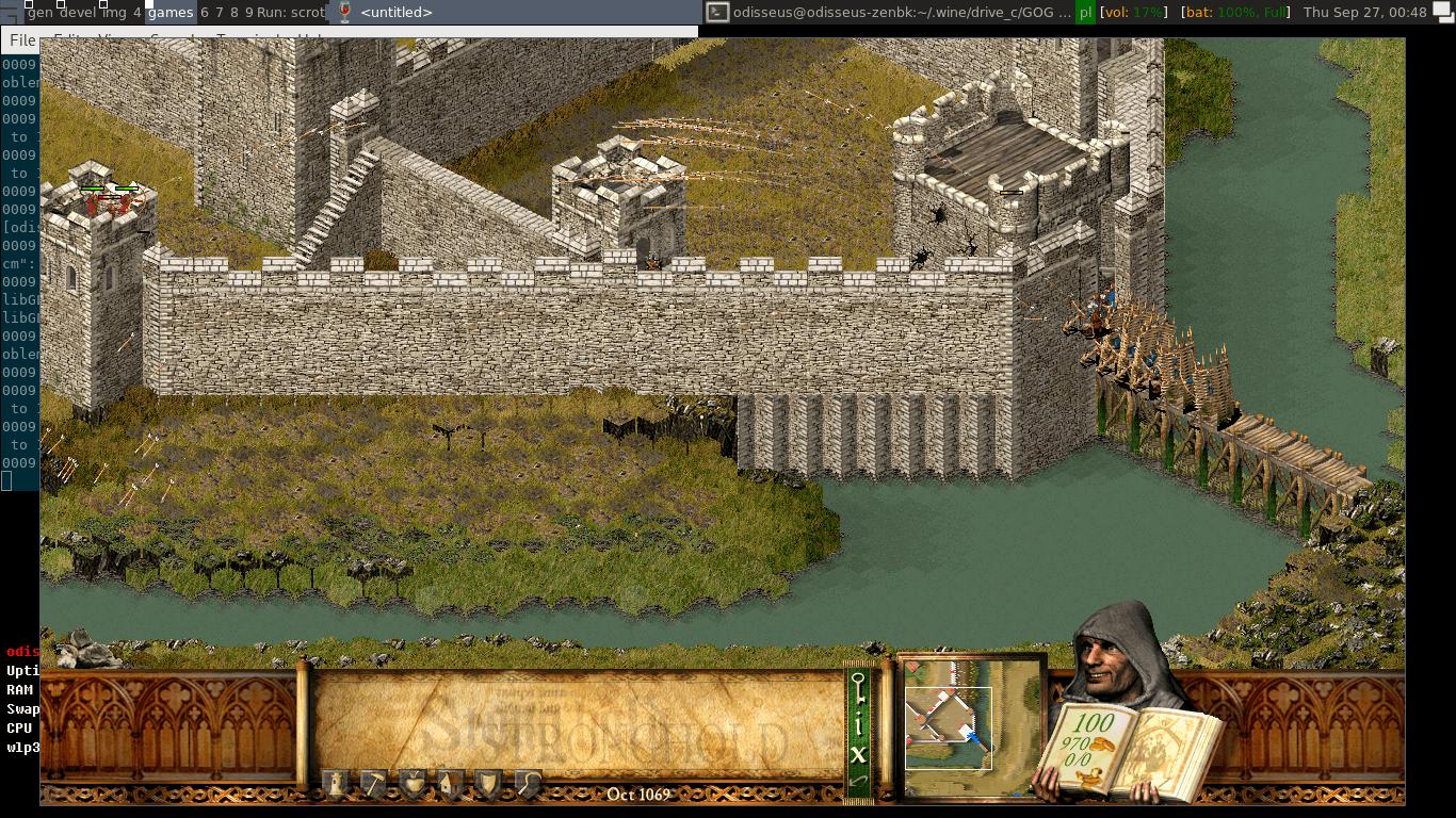 Shields on a bridge